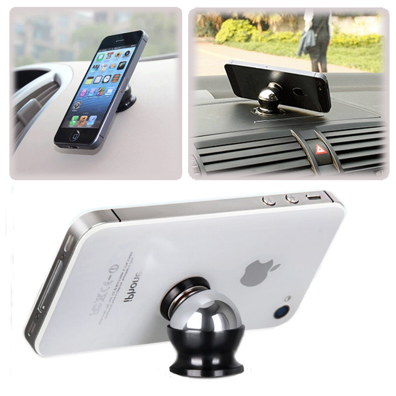 Magnetic 360 degrees mini holder for mobile phone pad gps holder car phone stands holder tools - Notepad holder for car ...