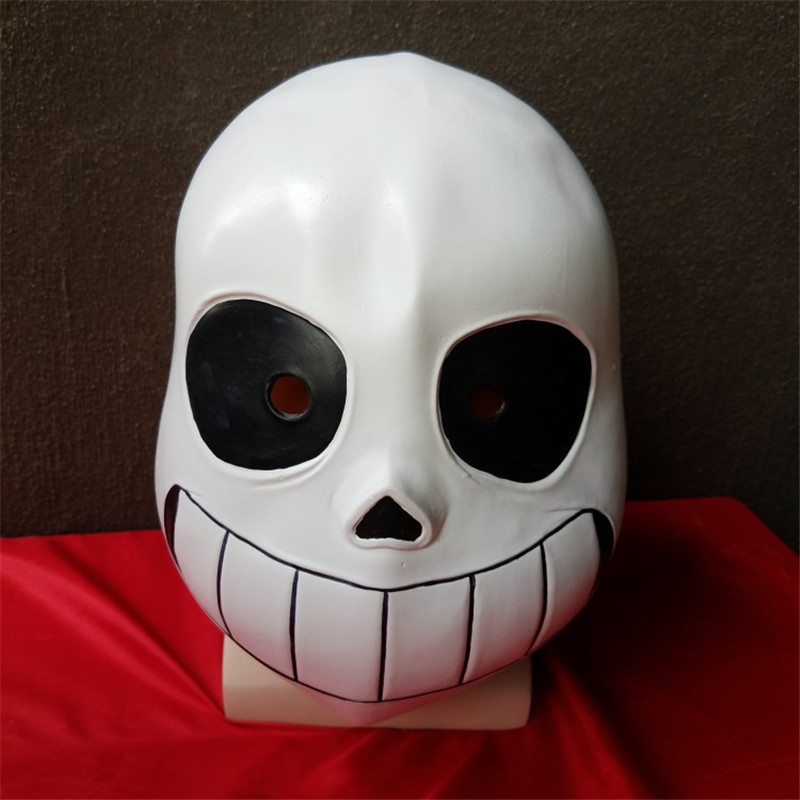 High quality Game Undertale Sans Latex Cosplay white mask Helmets halloween props unisex for adult kids mask christmas