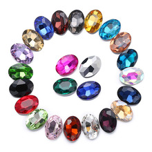 Promotion clear crystal oval shape nail art rhinestone pointback crystals and stones glue on trass for clothes shoes