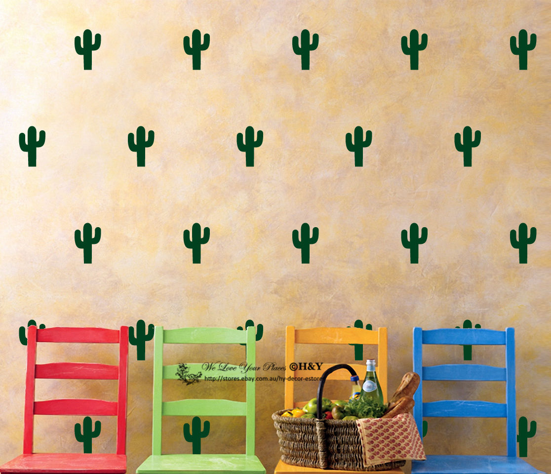 Aliexpress.com : Buy ZN C075 60 pcs Cactus Kids Room Wall Stickers ...