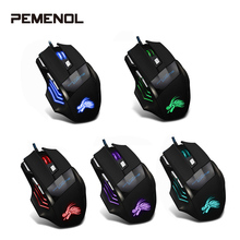 New X3 Professional Wired Gaming Mouse 7 Button 5500 DPI LED Optical USB Wired Computer Mouse Gamer Mice Game Mouse Silent Mause logitech g102 wired mouse gaming optical 200 6000 dpi gaming mice rgb led mouse
