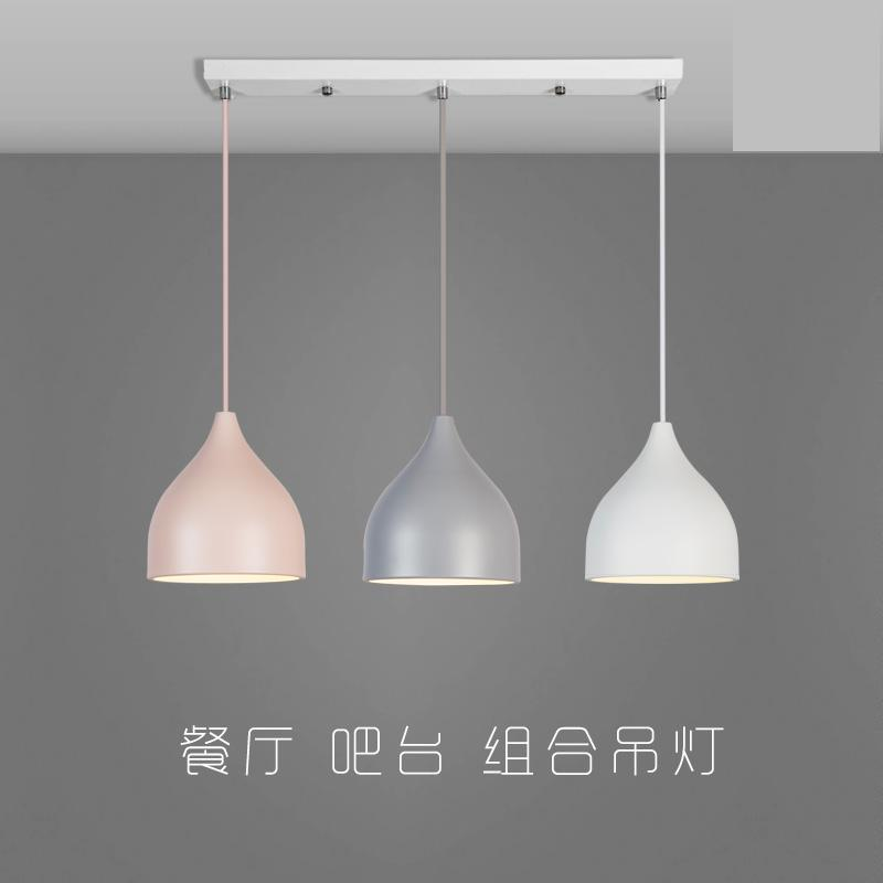 Nordic Restaurant Pendant Lamp Creative Modern Minimalist Three Head Lamps Bar Dining Room Home Macarons Small Chandelie a1 led pendant lights restaurant lamp crystal glass lamps modern minimalist new creative art dining room bar pendant lamps