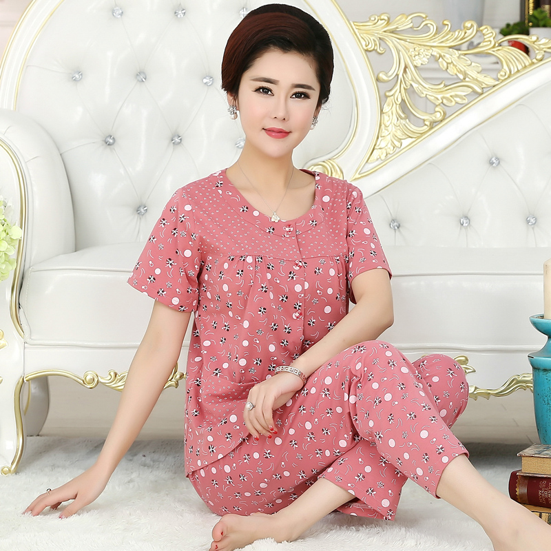 Women's Sleepwear Autumn Long sleeves cotton Ladies Pyjamas pullover trousers