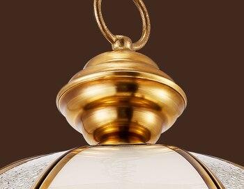 Nowoczesne Krótkie Miedzi I Matowe Szkło Wisiorek światła Handwork Lutowania E27 LED Kryty Pojedynczy U Nas Państwo Lampy Dla Pavilion & Schody BRSDD011