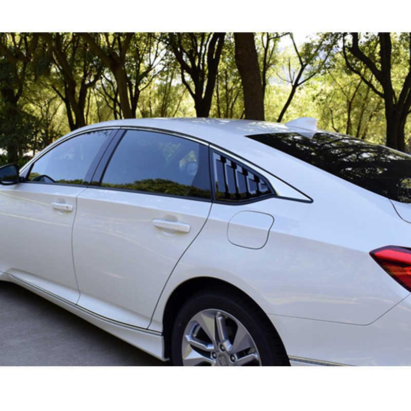 2 шт. глянцевая черная Автомобильная задняя панель задней боковой части Кузова Боковая вентиляционная панель с прорезями на окно для Honda Accord 2018 автомобильные внешние аксессуары
