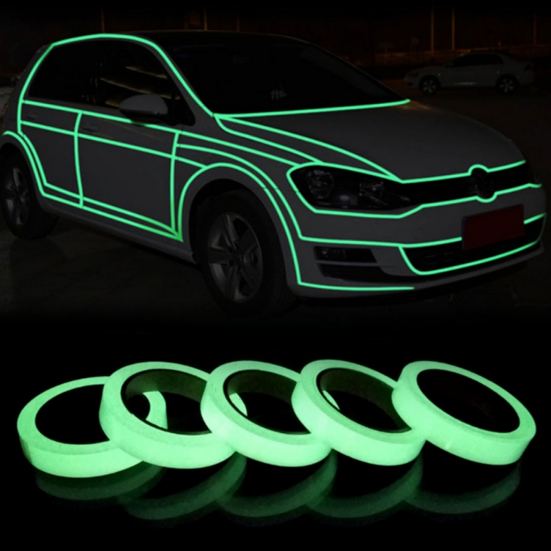 Night Vision Luminous Tape 10mm/20mm/30mm/50mm Shining In The Dark Self-adhesive Tape Warning Security Home Decoration Tapes