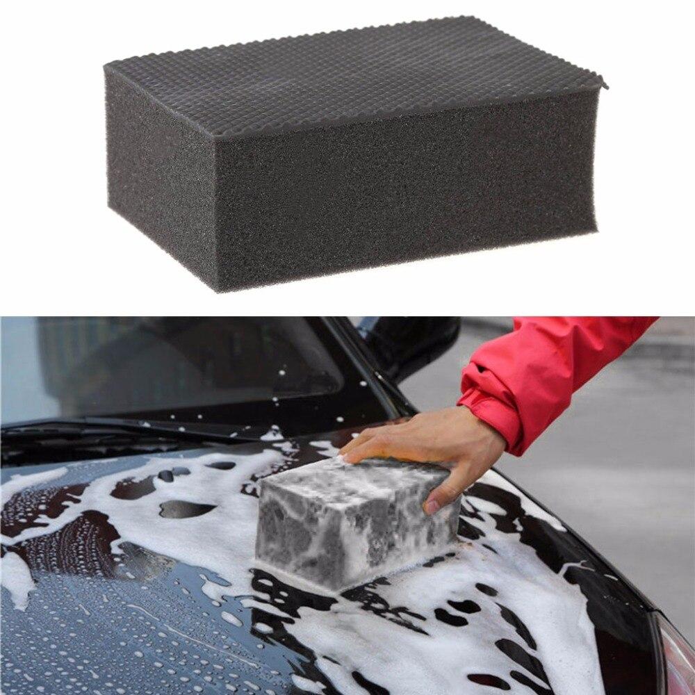 Car Auto Magic Clay Bar Pad Sponge Block Cleaner Cleaning Eraser Black 10.5x7x4cm A13