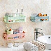 1pc Plastic Shelf Bathroom Shelf Shelf Kitchen Shelf Storage Rack Wall Holder Kitchen Holder