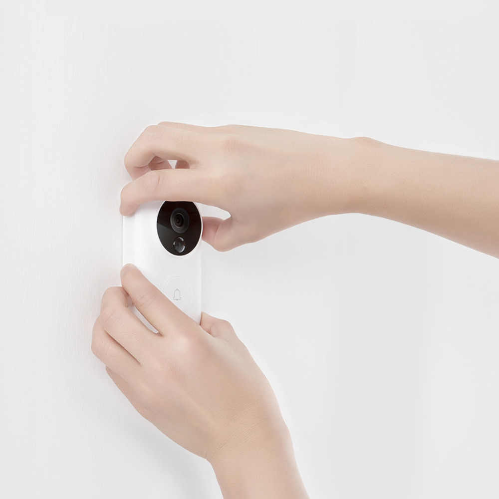 Xiaomi Nol Ai Identifikasi Wajah Bel Pintu Set 720P IR Night Vision Video Motion Detection Push SMS Intercom Awan penyimpanan