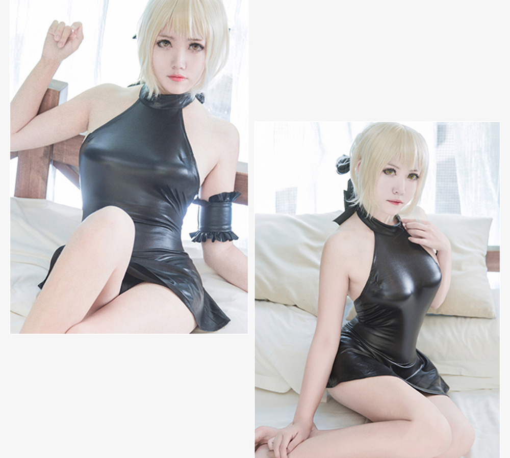 Anime Fate Su ku water One-piece swimsuit Saber My lord sexy Swimming Suit Cosplay Costume