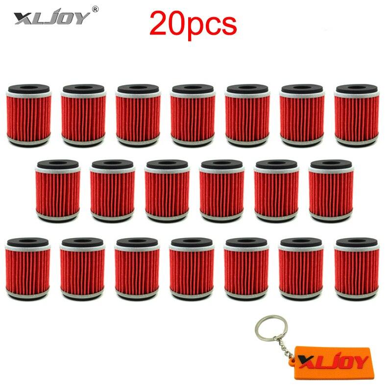 20x Oil Fuel Filter For Yamaha YZ YBR YFM WR 250 450 WR250R WR450F YFZ450R YFZ450X
