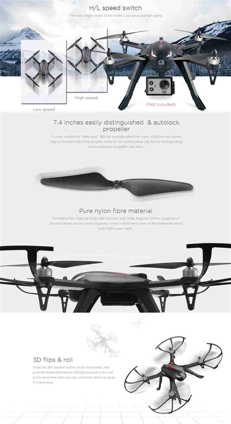 MJX Bugs 3 B3 RC Quadcopter Brushless Motor 2.4G 6-Axis Gyro Drone With H9R 4K Camera Professional Dron Helicopter 23