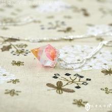 Flower Invitation Small diamond mould -DIY hand Diamond Pendant transparent silicone resin flower shape diamond necklace mold