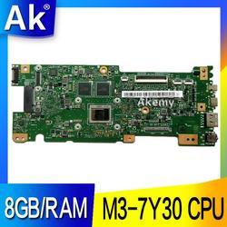 AK UX330CAK 8 GB/RAM M3 7Y30 procesor asus ZenBook UX330CA UX330C UX330 laptop płyta główna testowane 100% pracy oryginalna płyta główna w Płyty główne od Komputer i biuro na
