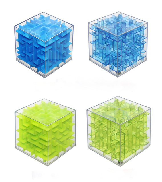 UainCube 3D Cube Puzzle Maze Toy Hand Game Case Box Fun Brain Game Challenge Fidget Toys Balance Educational Toys for children 3