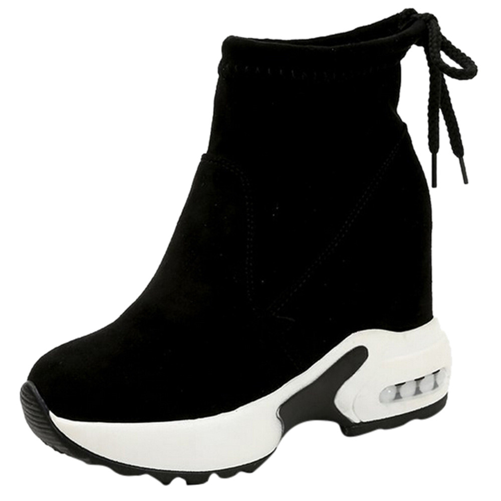 Snow Boots Women Wedges Height Increasing Ankle Boots Pointed Toe Slip-On Ladies Mujer Winter Snow Boots WomenSnow Boots Women Wedges Height Increasing Ankle Boots Pointed Toe Slip-On Ladies Mujer Winter Snow Boots Women