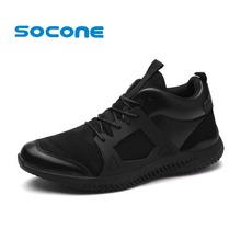 Socone Men Running Shoes Breathable Outdoor Walking Shoes Male New Athletic Sport Sneakers Lightweight Lace up