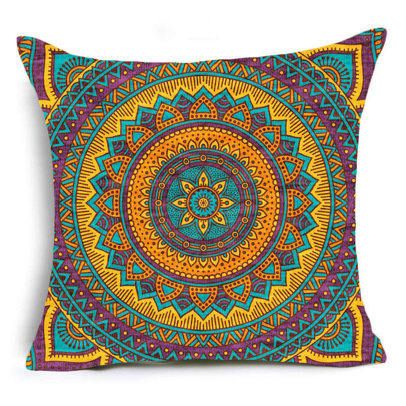 Purple Mandala Print Sofa Cushion Covers