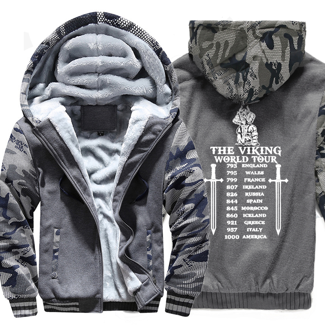 hoodies men sweatshirts Vikings Odin 2019 winter Men hip hop jackets coats funny Odin Viking hooded man's plus M-5XL tracksuits