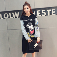 Size New Women dress Plus Obesity And Long Render Fat Cotton Fleece 200 Catties Dresses Black 1026
