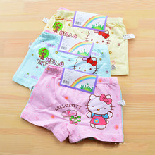 3pcs Children Girls Cat Underwear Kids Fashion Character Boxer Brief Infant Baby Girl Panties ropa interior ninos child thong