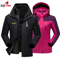 Plus size 5XL,6XL winter jacket men women cotton down parka warm 2 in 1waterproof windproof Detachable Hood Winter Coat 16colors