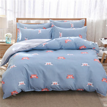 Bedding Set Soft Skin Comfortable Bed Linen Single Twin Queen King Size Bedspreads Quilt Comforter Pillow Case 24(China)