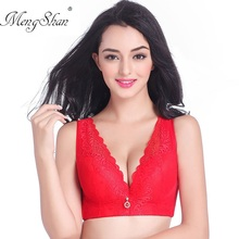 Vest type Wide shoulder strap Five breasted Lace Bra Fat mm Thin section Super large code Wireless Gather together Large cup