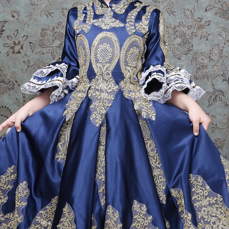 Enfants enfants cour européenne fille robes interprètes Costplay robe filles robe de bal fleur Designer Boutique robe - 4