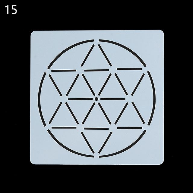Geometric Mandala Star Stencil for Painting and Dotting