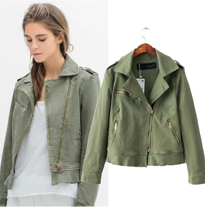 Army Green Jacket Women Photo Album - Reikian