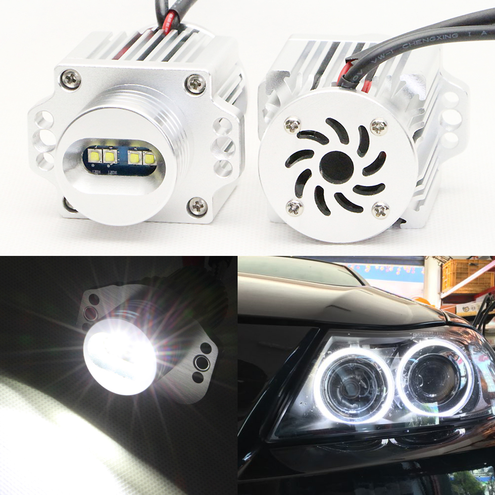 New with fans 40W 2000Lm bright LED Marker Angel Eyes 7000K XENON White for BMW E90 E91 320si,323i,325i,325xi,328i,328xi,330xd