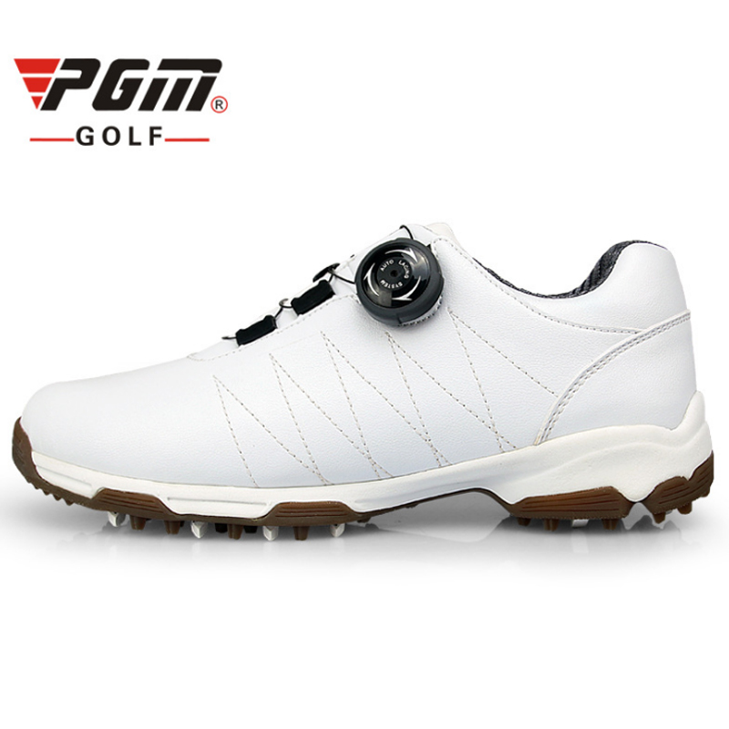 PGM Golf Shoes For Women PU Leather Waterproof Sneaker Ladies Profession Athletic Shoes Breathable Sport Shoes Sapatos De Golfe pgm men golf shoes breathable athletic sneaker plus size 39 46 mesh sport shoes pu waterproof professional golf shoes for men