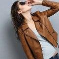 Мотоцикл Кожа Искусственная Кожа Куртка 2016 Новая Весна И Осень Pu Женщин Короткий Тонкий Небольшой Кожаной Куртке 6 Цвета
