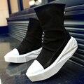 2017 moda Y3 High Top Hombres Aumento de la Altura Plataforma BootsCasual Zip Con cordones Zapatos Negro Blanco Mezclado Calzado Masculino botas