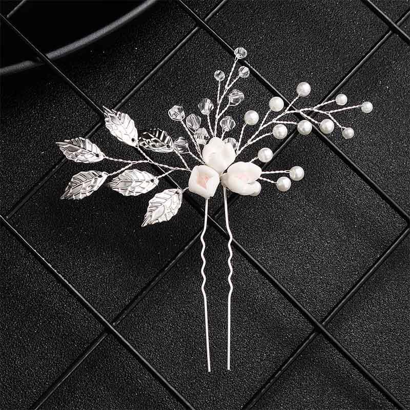 Miallo 2019 Fashion Pearls Hair Pins Hair Accessory Jewelry Pearl Hair Clip Comb Rhinestones Women Headpieces in Hair Jewelry from Jewelry Accessories