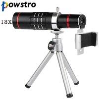 Powstro 범용 배 줌 망원경 전화 카메라 렌즈 클립 아이폰 7 8 삼성 S7 S8 HTC 소니 휴대 전화 렌즈