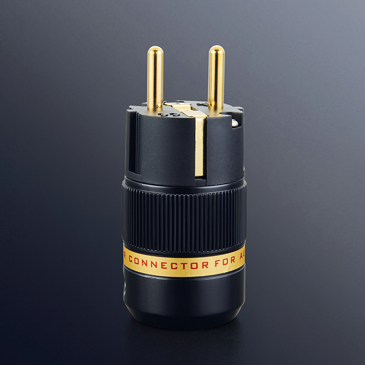 Viborg Audio Hi End VE 501G Pure Copper 24K Gold Plated EU Schuko Power Plug for