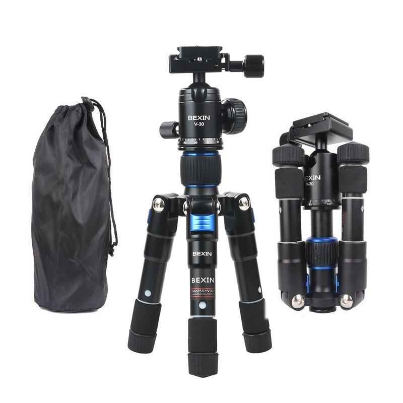 Trépied BEXIN M225S Mini Kit de trépied professionnel Macro de bureau avec rotule pour Canon Nikon Compact DSLR vlog caméra