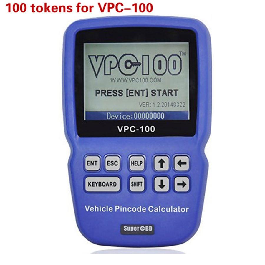 Prix pour 100 Jetons pour SuperOBD VPC-100 De Poche code PIN Calculatrice VPC100 IMMO Clé Lecteur de code