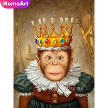 MomoArt DIY Diamond Painting Cartoon Embroidery Full Square Rhinestone 5D Mosaic Monkey Cross Stitch