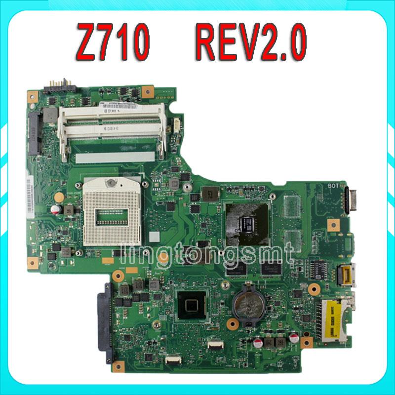 For Lenovo IdeaPad G710 Z710 Motherboard DUMBO2 REV2.1 Mainboard GT745 100% tested & working for lenovo ideapad g710 z710 motherboard dumbo2 rev2 1 mainboard gt745 2g non intergated 100