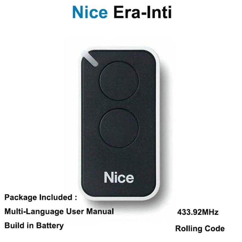 10pcs Nice Era inti compatible remote transmitter Nice inti 2 handsender free shipping