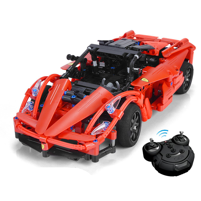Red Storm Technic Series RC Remote Control Sportscar Racing Car Building Block Brick Compatible with Legoingly loz smartable technic series red excavator diy building brick blocks toys compatible with legoingly technic car gift toy to kid