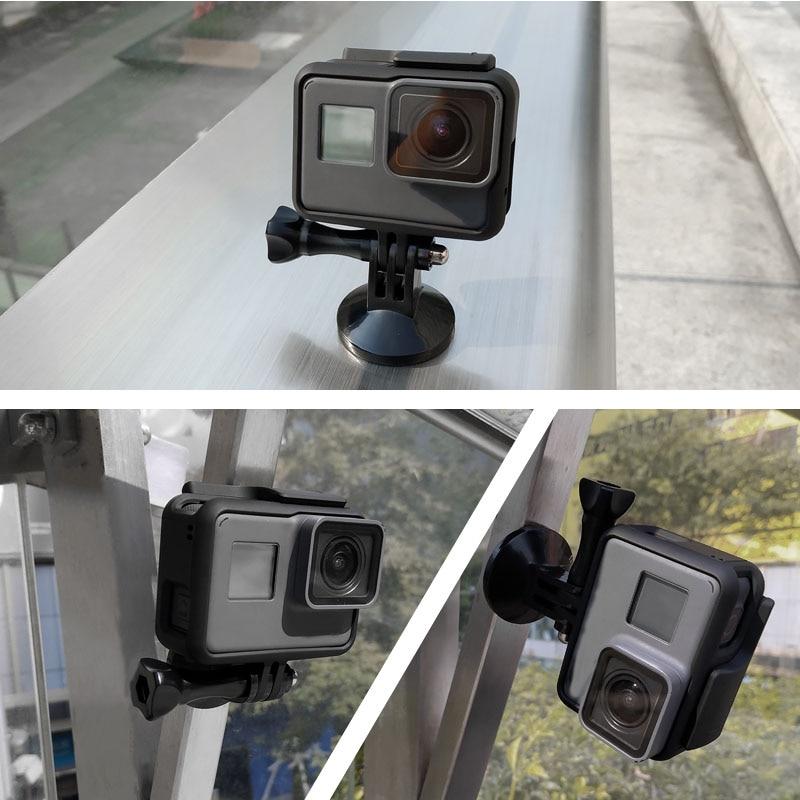 Magnetic Mount Stand Metal Holder Adapter For GoPro Hero 8 7 6 5 4 3 Xiaomi Yi 4k SJCAM Sj4000 EKEN H9 Action Camera Accessories