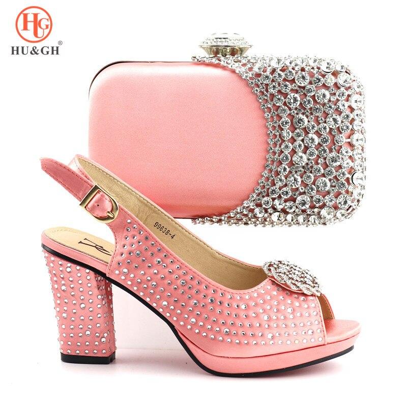 lavanda amarillo Negro Mujeres Las Decorado Bolso rosado De Negro Zapatos Italiano Con Y Encuentro Bolsos Imitación A Nigeria Diamantes TC4wxUqS