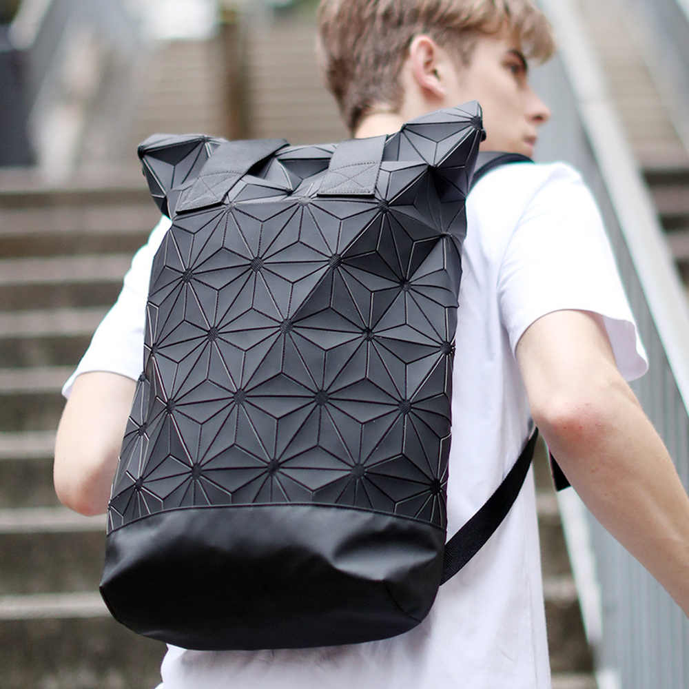 2019 New Backpack Men and Women Computer bag Clover 3D Diamond Geometry Stitching backpack