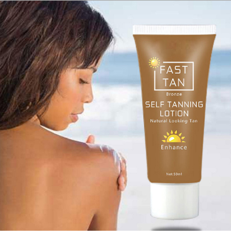 Self Tanner Solarium Cream Sun Tan Oil For Body Tanning Bronze Cream Beauty Black Foundation Tanner Lotion Sun Block Cream 50ml