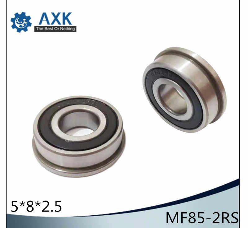 5x8x2.5 mm MF85-2RS MF85RS 5 PCS Flange Rubber Sealed Ball Bearing BLACK