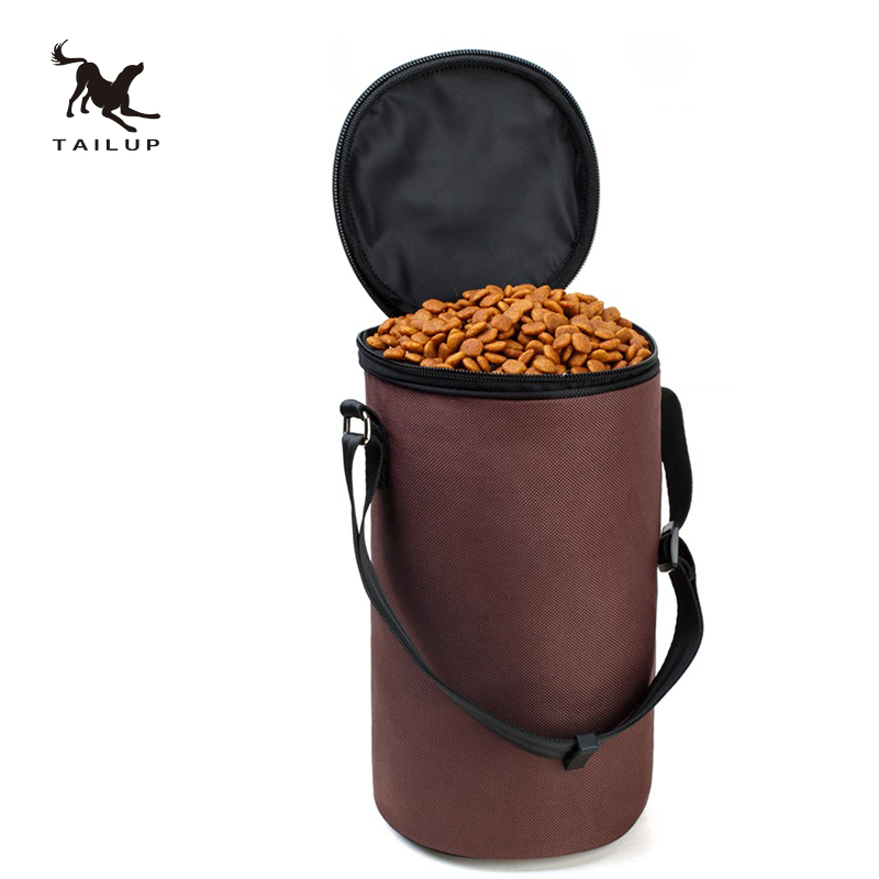Tailup High Ending Oxford Waterproof Food Bag Dog Feeders Travel Bowls Dry Container For In Feeding From Home Garden On